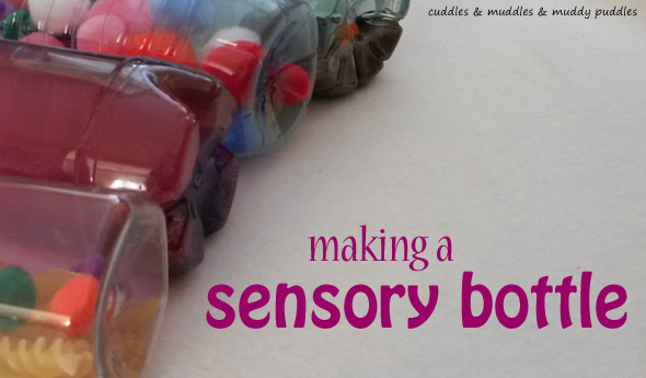 Making a sensory bottle