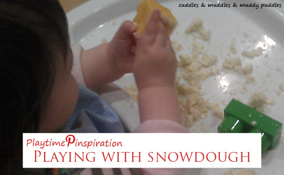 Playtime Pinspiration - Playing with snowdough