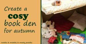 Cosy autumn book den