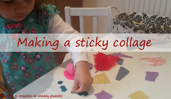 Making a sticky collage