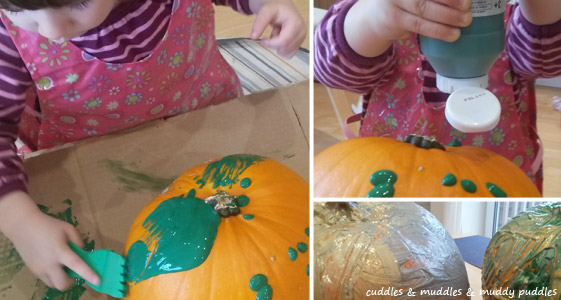 Playtime Pinspiration - painting pumpkins