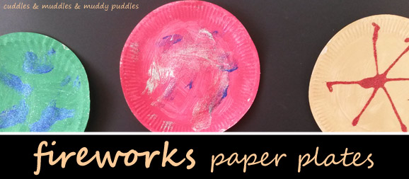 Fireworks paper plates