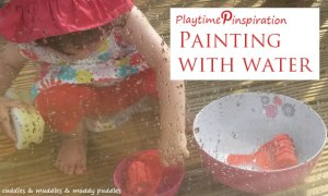 Playtime Pinspiration - Painting with water