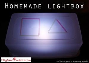 Playtime Pinspiration - Homemade lightbox