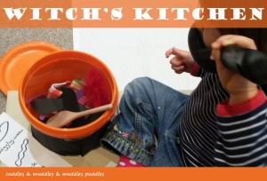 Witch's kitchen game for toddlers