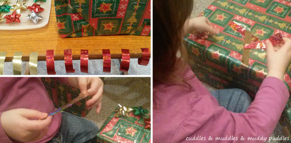 Christmas present wrapping activity
