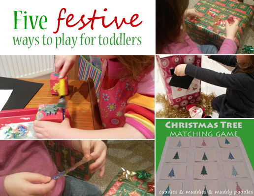 Five festive ways to play - cuddles & muddles & muddy puddles