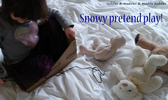 Snowy pretend play