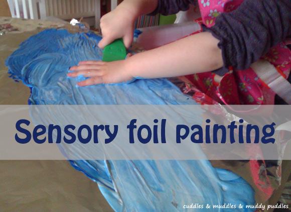 Sensory foil painting