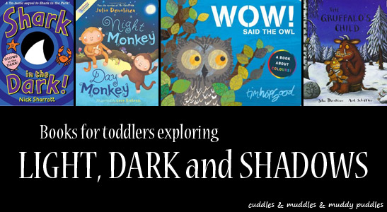 Books for toddlers exploring light, dark and shadows