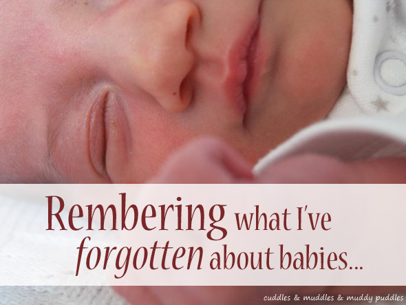 Remembering what I've forgotten about babies