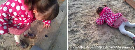 Sandpit in the park