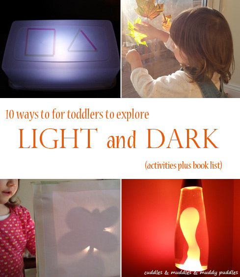 Ten ways to explore light and dark with toddlers
