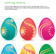 Easter egg matching puzzle for toddlers