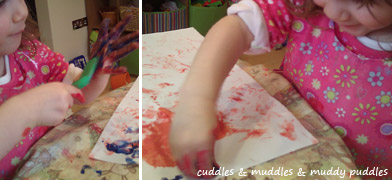 Painting with hands!