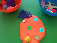 Playdough Easter egg decorating