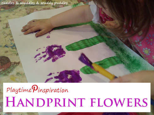 Playtime Pinspiration: Handprint flowers