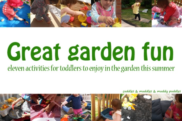 Great garden fun for toddlers