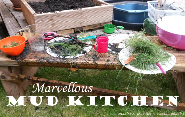 Marvellous mud kitchen for toddlers