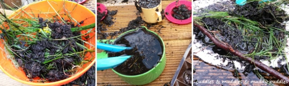 Mud kitchen concoctions