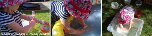 Shaving cream messy play