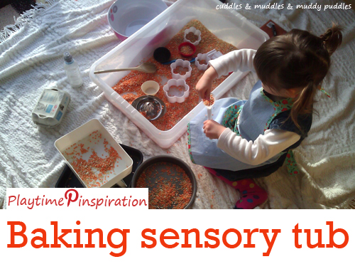 Playtime Pinspiration - Baking sensory tub