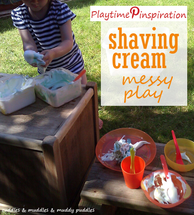 Playtime Pinspiration - shaving cream messy play