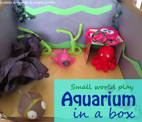 Small world aquarium in a box