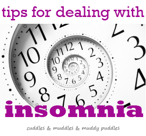 Tips for dealing with insomnia