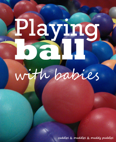 Playing ball with babies