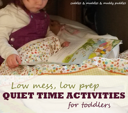 Ten low mess low prep quiet time activities