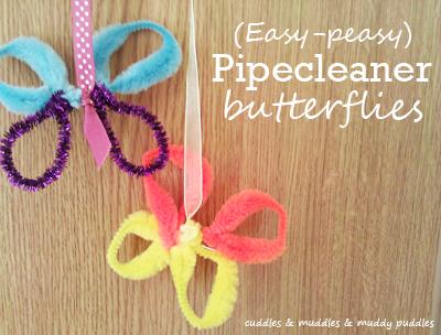 Easy peasy pipecleaner butterflies