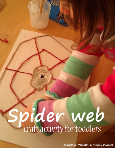 Spider web craft activity for toddlers