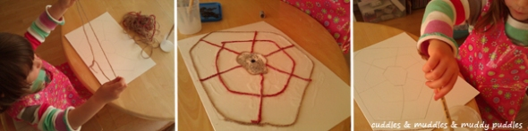 Spider web craft
