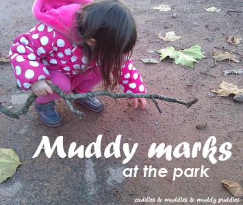 Muddy marks at the park