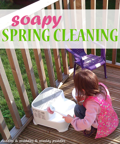 Soapy spring cleaning